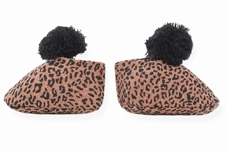 1 + In The Family Infant Leopard Bootie Navy (Size 3Mos)