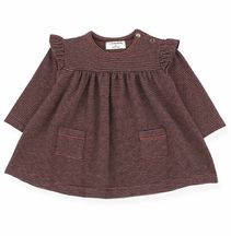 1 + In The Family Stripe Pocket Dress Navy & Burgandy (1Mos,3Mos,6Mos,9Mos,48Mos)