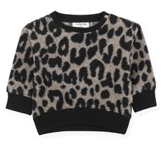 1 + In The Family Trendy Black Leopard Sweatshirt (Size 6Mos)