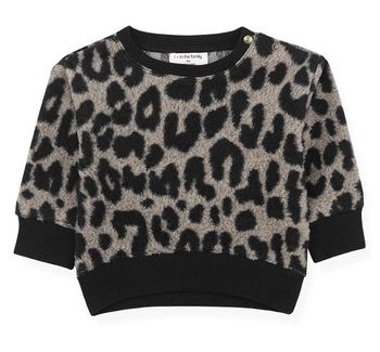 1 + In The Family Trendy Black Leopard Sweatshirt