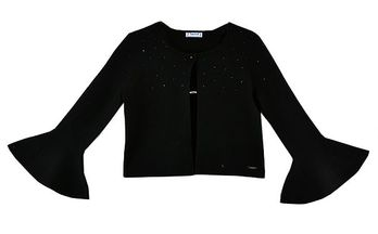 Mayoral A Cardigan with Flare in Black  (10 & 14)