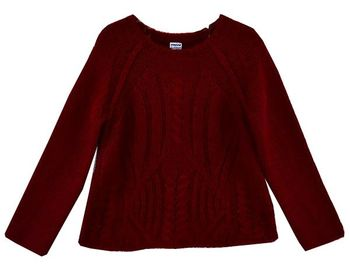Mayoral A Classic in Cable Knit Red Sweater  (Sizes 2 to 8)