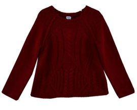 Mayoral A Classic in Cable Knit Red Sweater