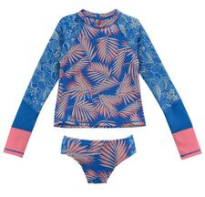 Aloha Rashguard Swimsuit for Tweens