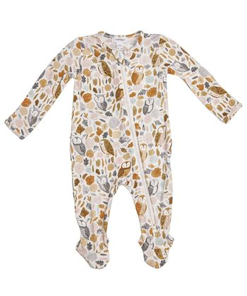 Angel Dear Autumn Owls Zipper Footie (Size 9-12Mos)