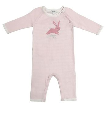 Angel Dear Bunny Knit Pink Coverall