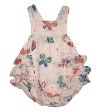 Angel Dear Butterflies Ruffle Sunsuit (6-12Mos,12-18Mos,18-24Mos)