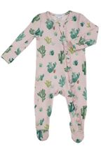 Angel Dear Cactus Pink Zipper Footie