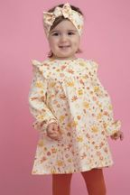 Angel Dear Daisy Baby Ruffle Dress & Legging (Sizes 6Mos to 4T)