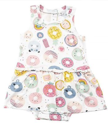 Angel Dear Donut Smiles Bodysuit with Skirting (3-6Mos & 18-24Mos)
