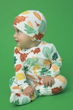 Angel Dear Fall Leaves Zipper Footie (NB to 9Mos)