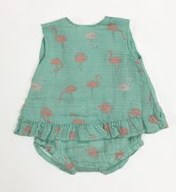 Angel Dear Flamingo Top and Bloomer