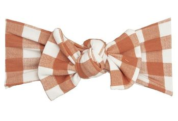 Angel Dear Gingham Pumpkin Headband (Size 12-24Mos)