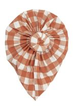 Angel Dear Gingham Pumpkin Norma Headwrap