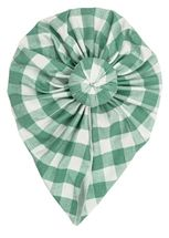 Angel Dear Green Gingham Headwrap (Size 0-6Mos)