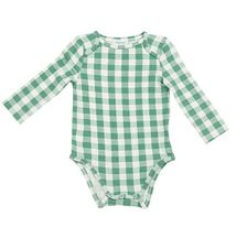 Angel Dear Green Gingham Onesie