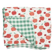 Angel Dear Green Gingham Quilt