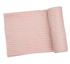 Angel Dear Hippo Stripe Swaddle Blanket