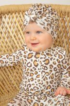 Angel Dear Leopard Front Zipper Footie (Size Newborn)