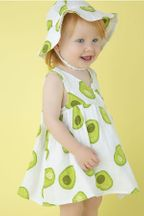 Angel Dear Muslin Dress & Bloomer in Avocado (3Mos to 24Mos)