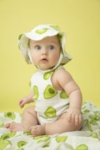 Angel Dear Muslin Sunsuit in Avacado (Size 12-18Mos)