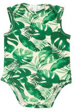 Angel Dear Onesie in Tropical Leaves (3-6Mos,6-12Mos,12-18Mos)