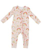 Angel Dear Rainbows Zipper Footie