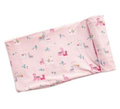 Angel Dear Swaddle Blanket Pink Llama