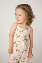 Angel Dear Tie Back Romper with Magnolias