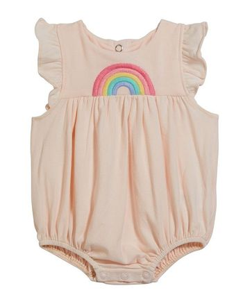 Angel Dear Pink Romper with Rainbow