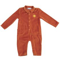 Angel Dear Velour Jumpsuit in Rust