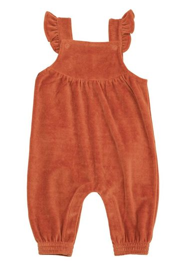 Angel Dear Velour Overall in Rust