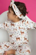 Angel Dear Wilderness Romper Deer (Size 0-3Mos)