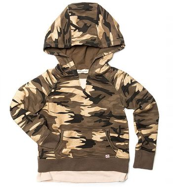 Appaman Camo Hoodie with Pocket for Girls