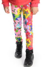 Appaman Girls Legging Graffiti Stars (Size 5)