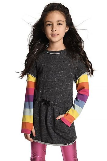 Appaman Jess Dress with Rainbow Sleeves (4,5,7,12,14)