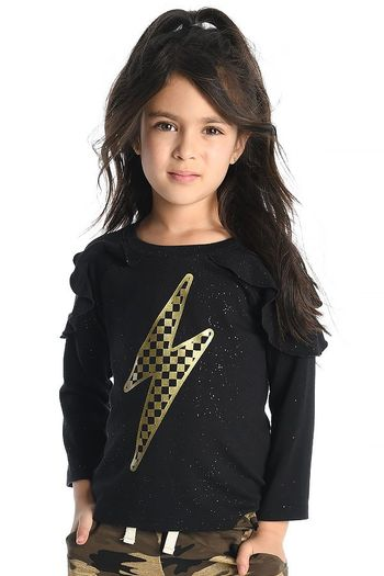 Appaman Lightening Bolt Top in Black