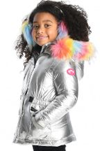 Appaman Middie Puffer Coat Silver (Size 4)