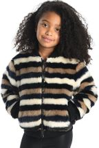 Appaman Nikki Bomber Jacket Faux Fur for Girls (4,5,7)
