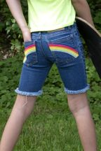 Appaman Rainbow Jean Short (5,6,7,8)
