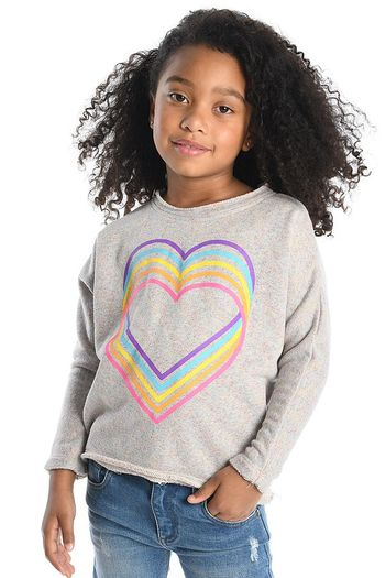 Appaman Rainbow Love Heart Sweatshirt (Size 12)