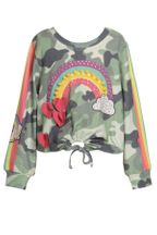 Baby Sara Camo Print Top Long Sleeve (Size 5)