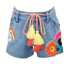 Baby Sara Denim Short Sequin Patch