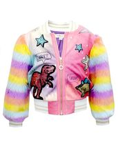 Baby Sara Dino Bomber Jacket for Girls (Size 12Mos)