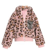 Baby Sara Leopard Bomber Jacket Metallic Pocket (3T & 6)