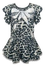 Baby Sara Leopard Dress with Sequin Bow
