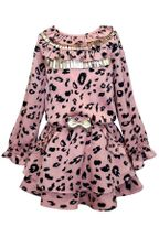 Baby Sara Pink Leopard Dress