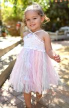 Baby Sara Pink Tulle Crotchet Dress (2T,4T,5)