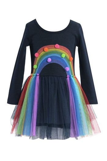 Baby Sara Rainbow Tutu Dress Navy (Size 2T)