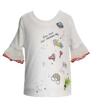 Baby Sara Sequin Patch Girls Tee (Size 3T)